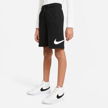 Nike Sportswear Swoosh kids French Terry short Zwart