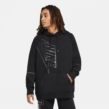 Nike Sportswear Icon Clash Fleece hoodie Dames Zwart