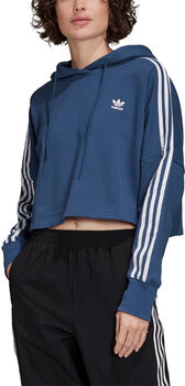 adidas Cropped hoodie Dames Blauw