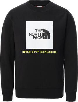 The North Face Box Crew kids sweater Jongens Zwart