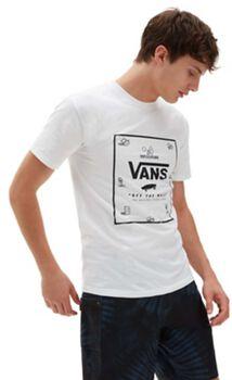Vans Classic Print Box t-shirt Heren Wit